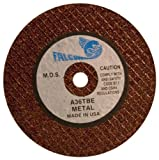 Falcon A36TBE Extra Tough Resinoid Bonded Double Reinforced Grinding and Snagging Abrasive Cut-off Wheel, Type 1, Aluminum Oxide, 1/4'' Hub, 4'' Diameter x 3/16'' Thickness, 36 Grit  (Pack of 5)
