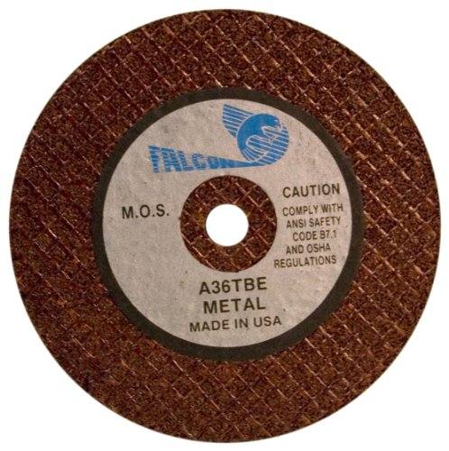 Falcon A36TBE Resinoid Bonded Double Reinforced Abrasive Cut-off Wheel, Type 1, Aluminum Oxide, 1/2