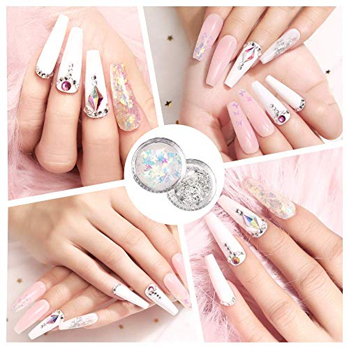 Modelones Poly Nail Gel Kit, 3 Pcs Enhancement Builder Gel Nail Extension Gel Kit with Slip Solution Glitter Manicure Tools Trial Professional Technician All-in-One French Kit