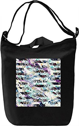 Modern Print Borsa Giornaliera Canvas Canvas Day Bag| 100% Premium Cotton Canvas| DTG Printing|