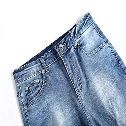 Vaqueros Vaqueros con Rasgados De Cher Los Chicos Hellblau Pantalones Pantalones La Los Ocasionales Hombres De Vaqueros Pantalones Agujeros De Vendimia Vaqueros De Pantalones Clásico Pantalones Destruidos qqZPXUwx