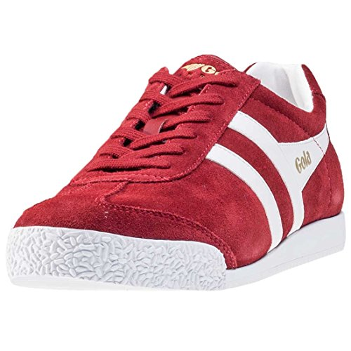 Gola Mens Classics Harrier Suede Trainers Jester Red / White