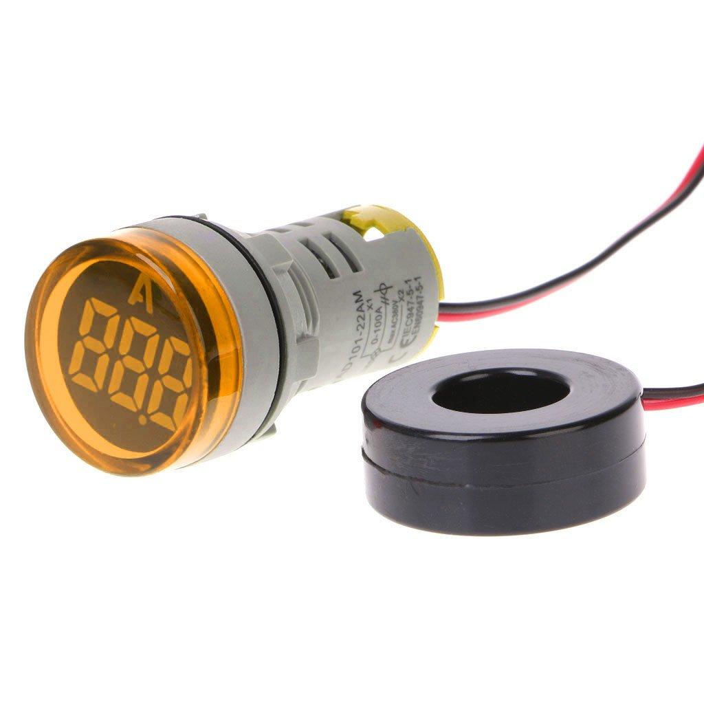 A0127 AC220V, 22 mm, 0-100 A, con indicador de medici/ón de Corriente Amper/ímetro Digital