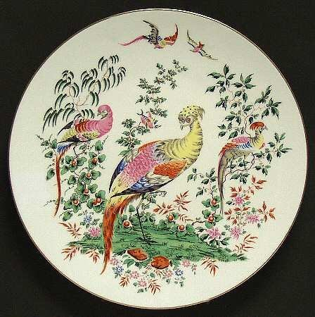 Peacocks Collector Plate from Fabulous Birds Series by Royal Worcester