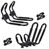 2 Pair Universal Canoe Car Top Mount Carrier Roof Rack...