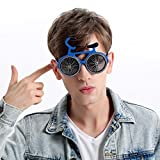 Novelty Party Prop Funny Bicycle Shaped Sunglass Kids Glasses Hallowen Colourful