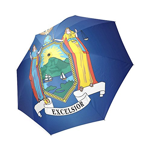 ea5f8b8f8ffd Custom New York State flags Compact Travel Windproof Rainproof ...