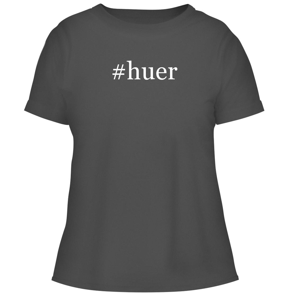 BH Cool Designs #Huer - Cute Women's Graphic Tee, Grey, XX-Large