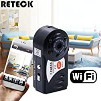 RETECK Q7 WiFi Wireless Recorder 720P Mini DV DVR Camera Smallest Night Vision Video Camcorder with Built-in Microphone