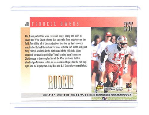 b328cc6deac 1996 Donruss  237 Terrell Owens San Francisco 49ers Rookie Card - Mint  Condition Ships in New Holder at Amazon s Sports Collectibles Store