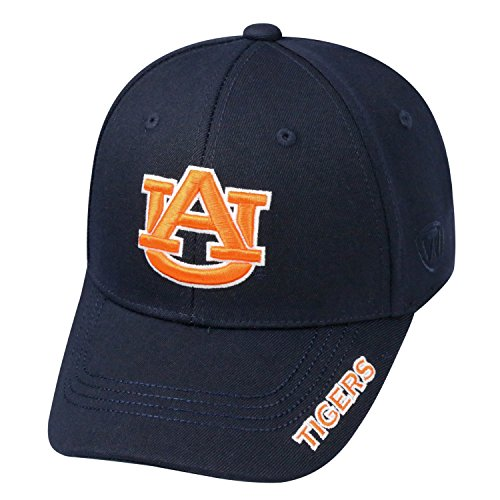Auburn Tigers Wool (Top of the World NCAA-Premium Collection-One-Fit-Memory Fit-Hat Cap-Auburn Tigers)