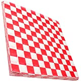Avant Grub Deli Paper 300 Sheets. Turn Your Backyard Cookout Party into a Classic Drive-In with Red & White Checkered Food Wrapping Papers. Grease-Resistant 12x12 Sandwich Wrap Prevents Food Stains!