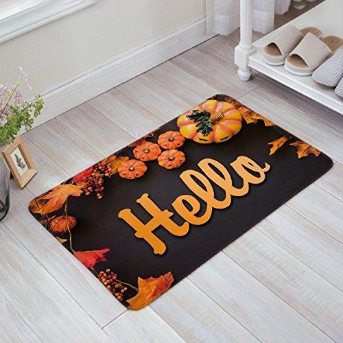 Colivy Halloween Theme Pumpkins Hello Doormat Entrance Mat Indoor/Outdoor Door Mats Floor Mat Rug (Halloween Entrance Ideas)