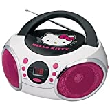Hello Kitty 56062-GRO Portable Stereo CD Boombox AM/FM Radio MP3 Player Speaker