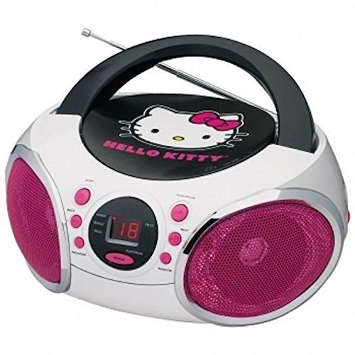 Hello Kitty 56062-GRO Portable Stereo CD Boombox AM/FM Radio MP3 Player Speaker (Hello Kitty Stereo Radio Am Fm Cd)