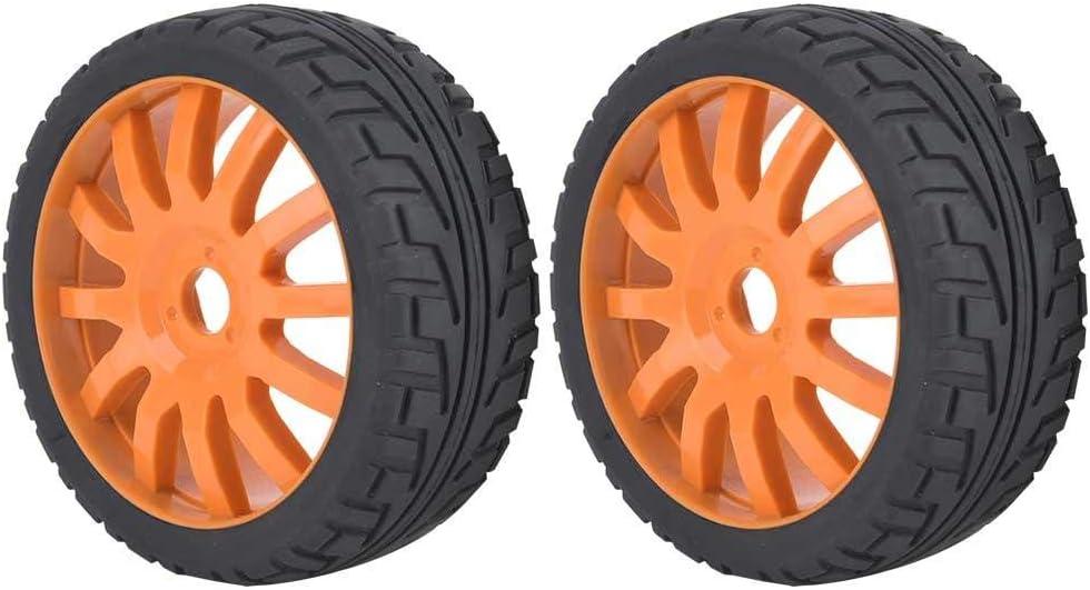 XuBa 2 ST/ÜCKE 1//10 Gummireifen RC Rennwagen Reifen Auf Stra/ße Metall Felge Fit F/ür HSP HPI 9068-6081 RC Auto Teil Durchmesser 62mm Reifen F/ünf-Sterne-Rad 2 St/ück
