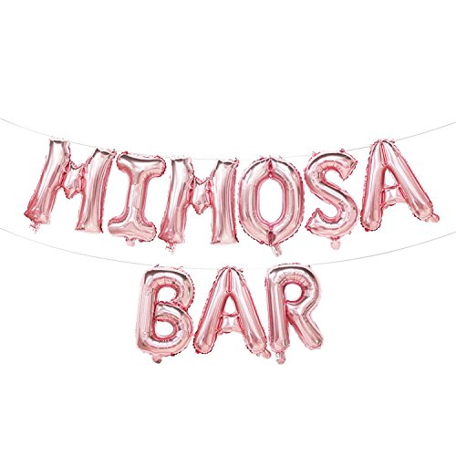 - Mimosa Bar Balloons Rose Gold | Mimosa Bar Banner | Champagne Brunch Decorations | Rose Gold Decorations for Bridal Shower, Birthday Party, Engagement Party, Bachelorette Party, Graduation | 16inch