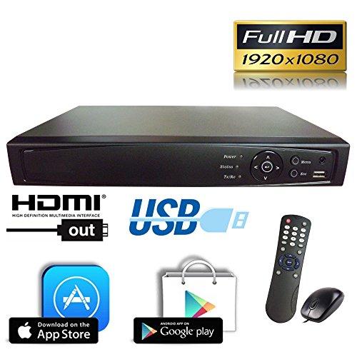 Internet Video Recorders (1stPV HD-TVI/Analog/IP 3 in 1 True-HD 1080p H.264 Digital Video Recorder Internet & Mobile Phone HDMI Smart Recording Playback Great for Home Office CCTV System, 8CH HD-TVI DVR, w/ 1TB HDD)