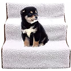 Pet Stairs Dog Steps Indoor Ramp Portable Folding Animal Cat Ladder with Cover