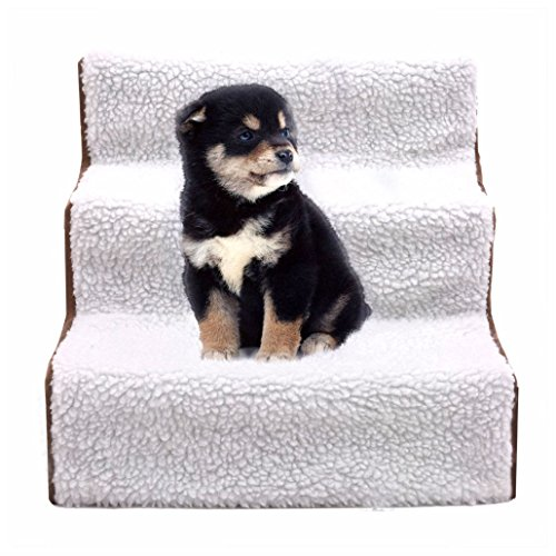 Pet Stairs Dog Steps Indoor Ramp Portable Folding Animal Cat Ladder with Cover by Unbranded*