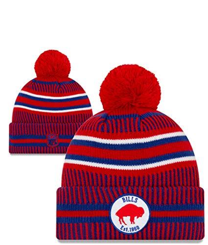 New Era NFL Buffalo Bills Sport Knit Winter Pom Knit Hat Cap Beanie (Buffalo Bills Hats Red)