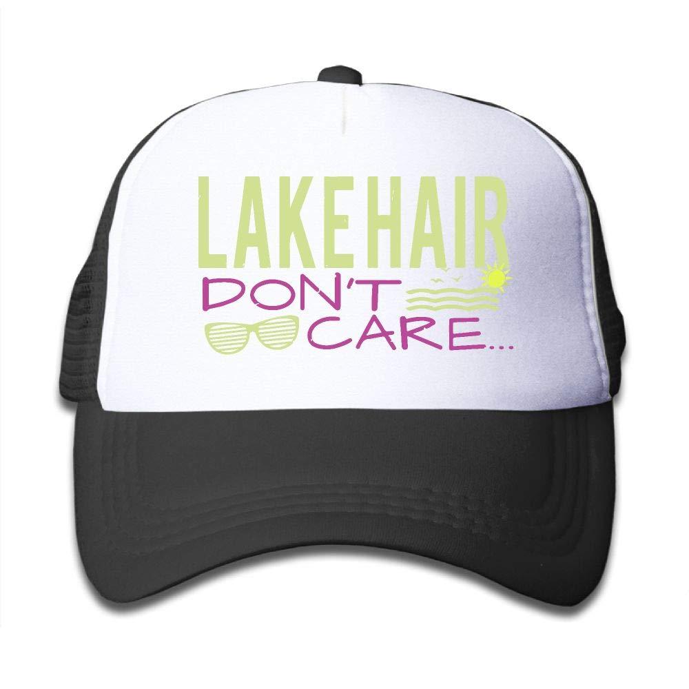 NO4LRM Kid's Boys Girls Lake Hair Don't Care2 Youth Mesh Baseball Cap Summer Adjustable Trucker Hat