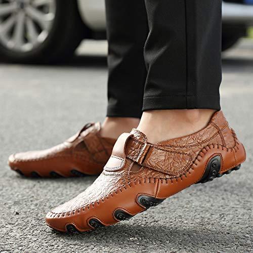 Big Trente En Code Kmjbs Homme Noir Grain Spring Chaussures Pour Cuir Style neuf casual Crocodile WqIIEOwY