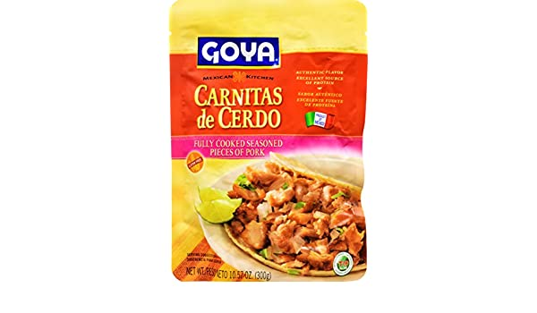 Amazon.com : Goya Foods Carnitas De Cerdo Fully Cooked Seasoned Pieces Of Pork, 10.57 Ounce : Grocery & Gourmet Food