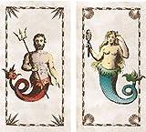 HomArt Mermaid & Neptune Matches Match Box Set of 2
