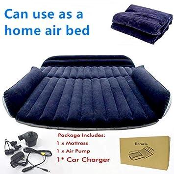 Colchoneta SUV Colchon Inchable Automatico Coche Hinchable Camping para el hogar senderismo al aire libre, Superficie de flocado, rápida Inflación