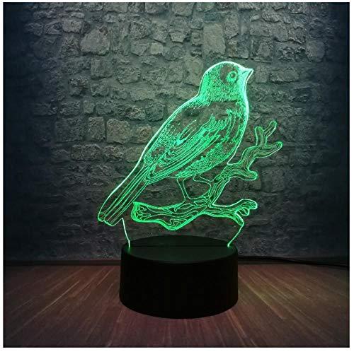 Nachtlichter 3d led lampe vogel zweige dekoration atmosphäre nachtlicht schreibtisch tisch 7 farbwechsel lavaboy kid toys urlaub geschenk