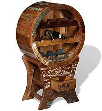 Botellero de estilo industrial Vintage rústico muebles madera maciza de reciclado de almacenamiento armario 10 botella