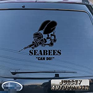 3S MOTORLINE Seabees Decal Sticker US Navy Construction Battalion CB Can do Car Vinyl pick size color die cut b from 3S MOTORLINE