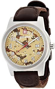 Wenger Men's 01.0441.107 Year-Round Analog Quartz Brown Watch
