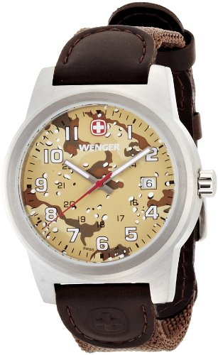 Wenger Watches Men's Field Classic Watch (Brown)