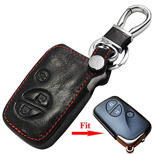 New Car Styling Leather Car Key Cover Case Holder for Lexus GX460 ES250 ES350 CT200h ES300h RX270 LXGS IS250 3 Buttons Remote Key Fob With (Lexus Es250 Car Cover)
