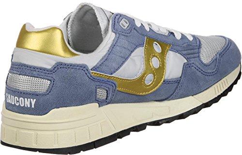 Saucony Men's Shadow 5000 Vintage Cross Trainers, Blue blau grau gold