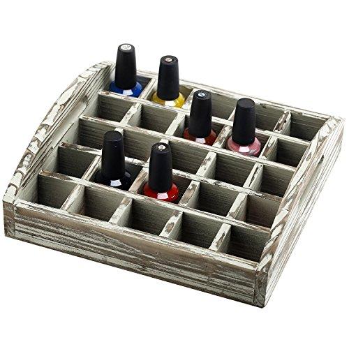 25 Slot Wood Essential Oil Storage Tray w/ Handles