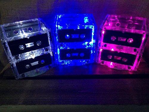 1980's / 1990's Cassette Centerpiece / Nightlight - 2 Tier with Multicolor LED Lights
