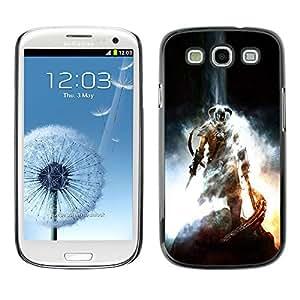 SAMSUNG Galaxy S3 III / i9300 / i747 , Radio-Star - Cáscara Funda Case Caso De Plástico (Dragonborn - Sky Rim Elder Scrols)