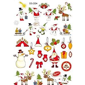 Waterproof Christmas Tattoos, Santa Claus, Christmas Tree, Rain Deer