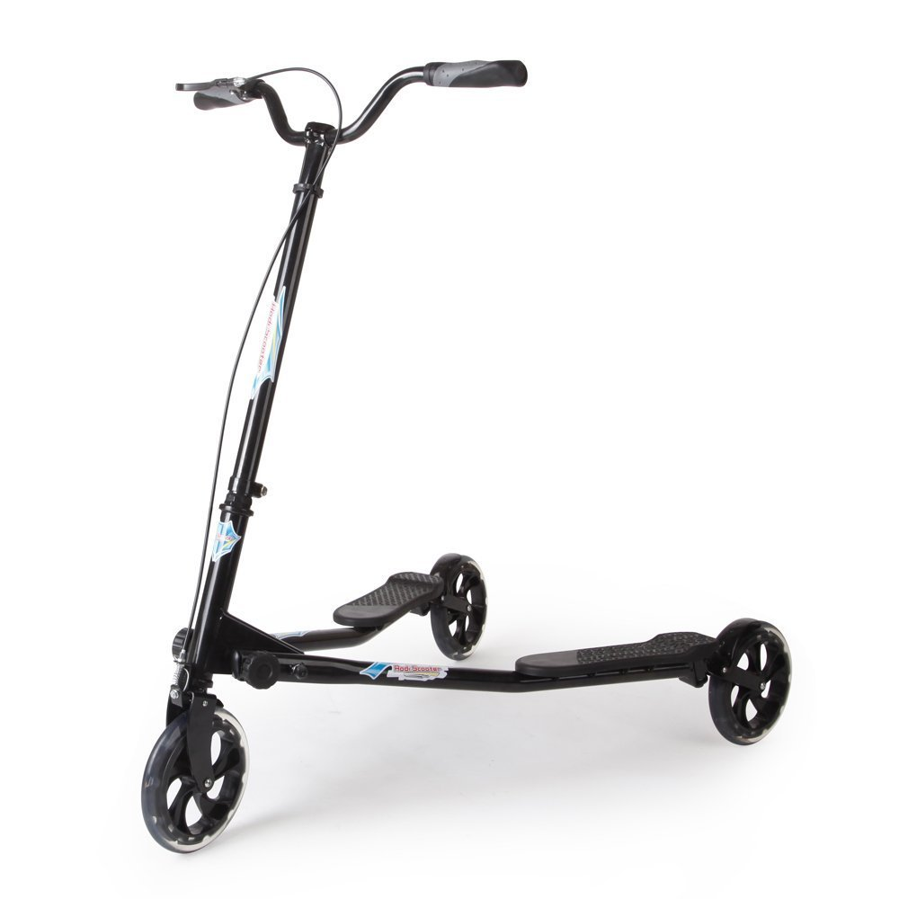 AODI 3 Wheeled Scooter - Height Adjustable Push Swing Wiggle Scooters with Drifting Self Propelling for Boys/Girl/Adult Age 9 Years Old and Up