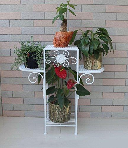 ZENGAI Iron Crafts Flower Racks Floor Style Flower Stand Flo
