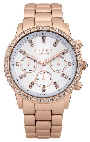 Amazon.com: Lipsy Womens Quartz Watch with White Dial Analogue Display and Rose Gold Stainless Steel Bracelet LP240: Watches
