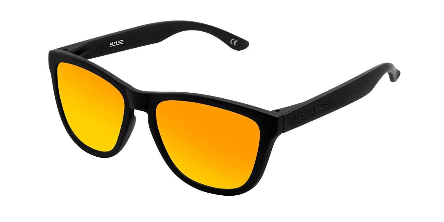 Hawkers Unisex Adults' Carbon Black Daylight One TR18 Sunglasses (Negro/Naranja), 60 O18TR31