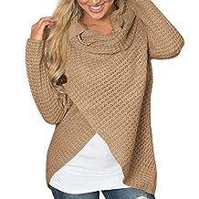 Women Sweater Pullovers 2018,Ladies Cowl Neck Sweatshirt Iregular Tops Blouse Shirt Long Sleeve