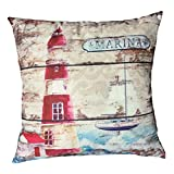 Pillow Covers,Lavany Pillow Cases Love Words Birds Tree Printed Pillowcases Cushion Home Sofa Car Decorative (H)