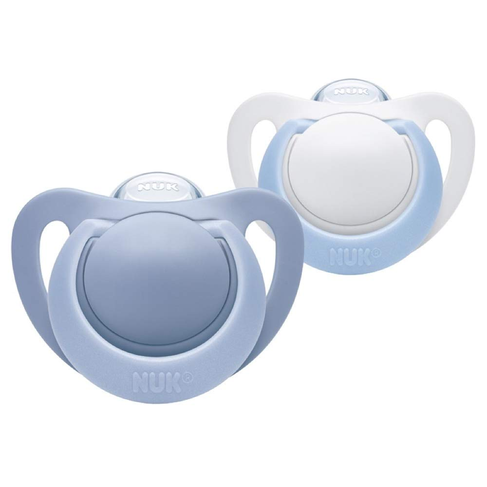 NUK Genius Soother Twin Pack: 0-6 (Blue & White)