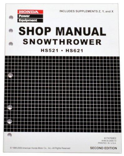 honda hs521 hs621 snow blow throw service repair shop