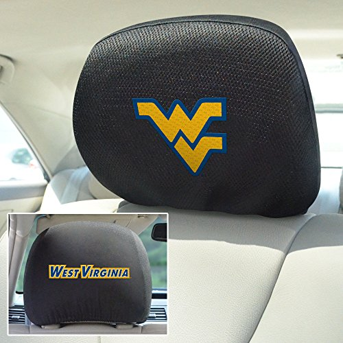 Headrest Covers Ncaa (FANMATS NCAA West Virginia University Mountaineers Polyester Head Rest Cover)